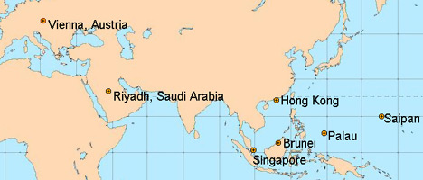 Pinoy Express World Wide Offices Map